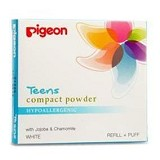 PIGEON Refill Compact Powder Hypoallergenic 14gr [PR080227] - White - Make-Up Powder